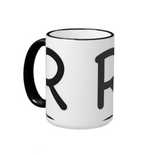Letter R outer glow Coffee Mug