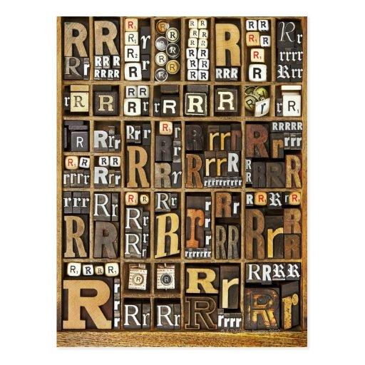 Letter R Postcards