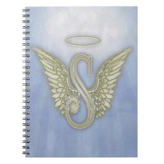 Letter S Angel Monogram Notebooks