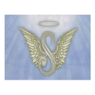 Letter S Angel Monogram Postcard