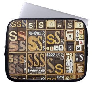 Letter S Laptop Sleeve
