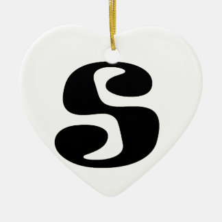 Letter S_large Christmas Ornament