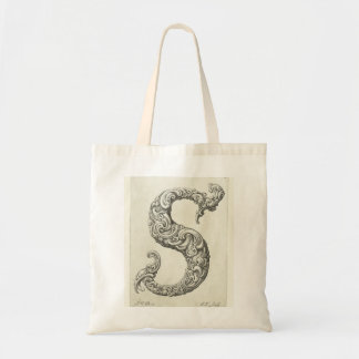 Letter 'S' Monogram Budget Tote