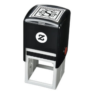 Letter S Monogram Self-inking Stamp