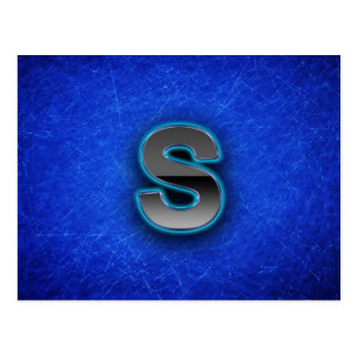 Letter S - neon blue edition Postcard