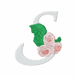 Letter S Roses Monogram Embroidered Shirt