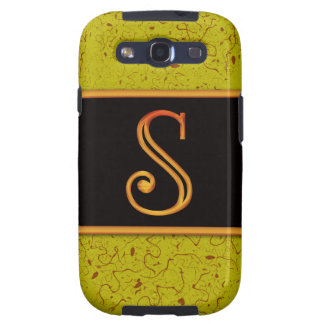LETTER S Samsung Galaxy S 3 Case Samsung Galaxy SIII Covers