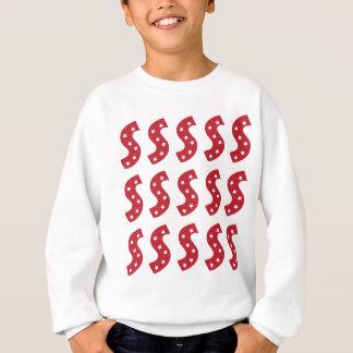 Letter S - White Stars on Dark Red Sweatshirt