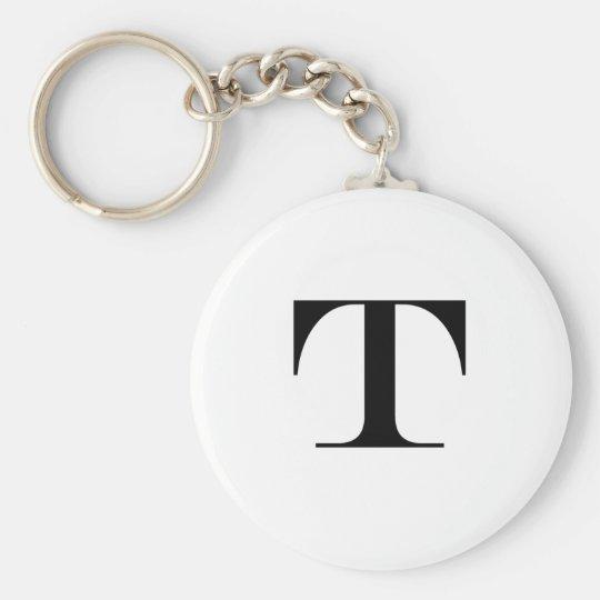 Letter T Monogram Keychain