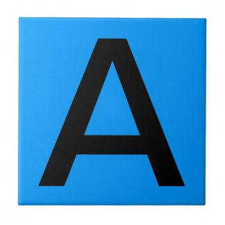 Letter Tile - Blue Background