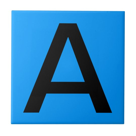 Letter Tile - Blue Background
