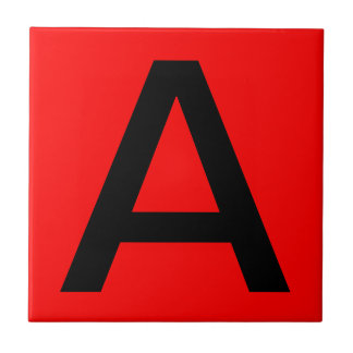 Letter Tile - Red Background - Pick your color