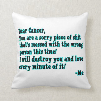 Letter To Cancer Cushion