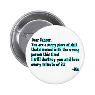 Letter To Cancer Pin