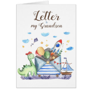Letter to my Grandson Card