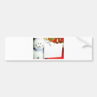 Letter to Santa Bumper Sticker