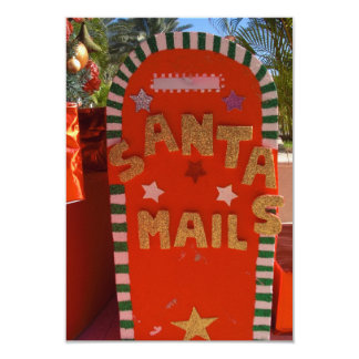 "Letter to Santa Card 3.5"" X 5"" Invitation Card"