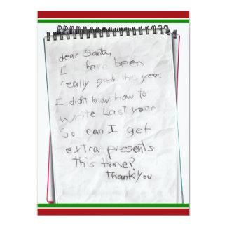 Letter to Santa Claus 6.5x8.75 Paper Invitation Card