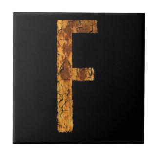 Letter Typo F Tiles