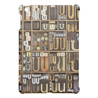 Letter U iPad Mini Covers