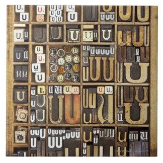 Letter U Tile
