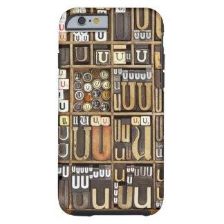 Letter U Tough iPhone 6 Case