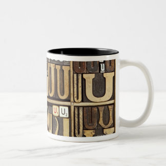 Letter U Two-Tone Coffee Mug