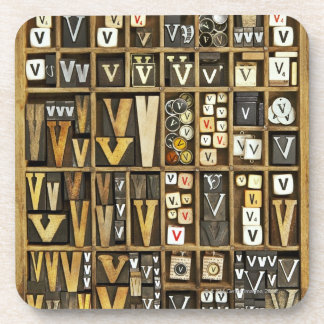 Letter V Coaster