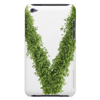 Letter 'V' in cress on white background, iPod Touch Cases