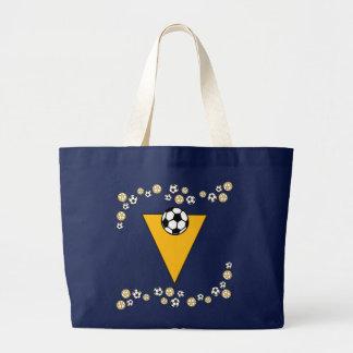 Letter V in Soccer Gold Monogram Tote Tote Bag