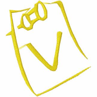 Letter V Note Monogram Embroidered Shirt