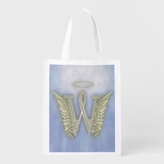 Letter W Angel Monogram