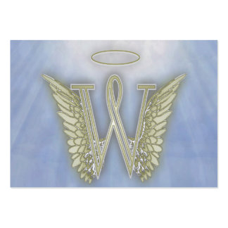 Letter W Angel Monogram Pack Of Chubby Business Cards