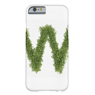 Letter 'W' in cress on white background, Barely There iPhone 6 Case