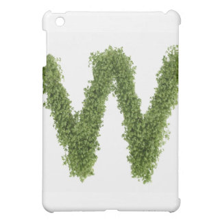 Letter 'W' in cress on white background, Cover For The iPad Mini