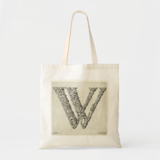 Letter 'W' Monogram Budget Tote