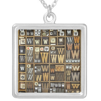 Letter W Silver Plated Necklace