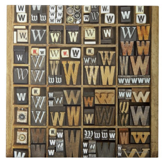 Letter W Tile