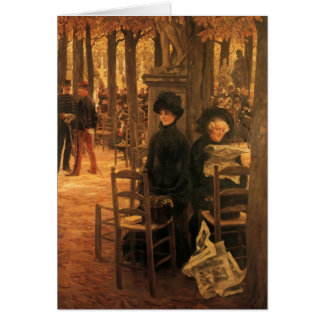 Letter with Hats by James Tissot Greeting Card