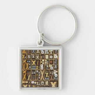 Letter X Key Ring