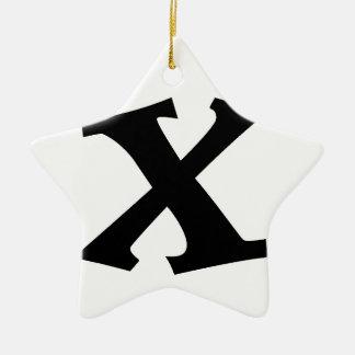 Letter X_large Christmas Ornament