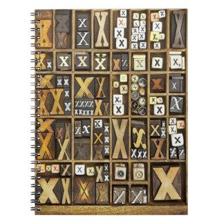 Letter X Notebooks
