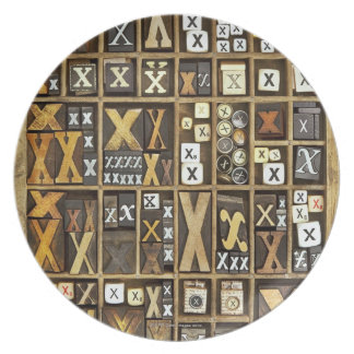 Letter X Plate