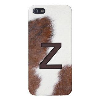 Letter Z Brand Cowhide Livestock Iphone 5 Case