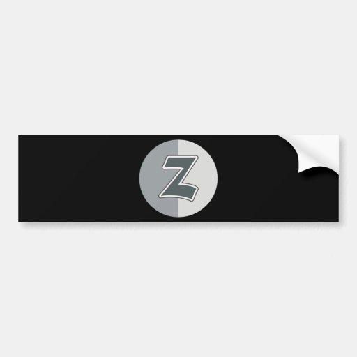 Letter Z Bumper Stickers