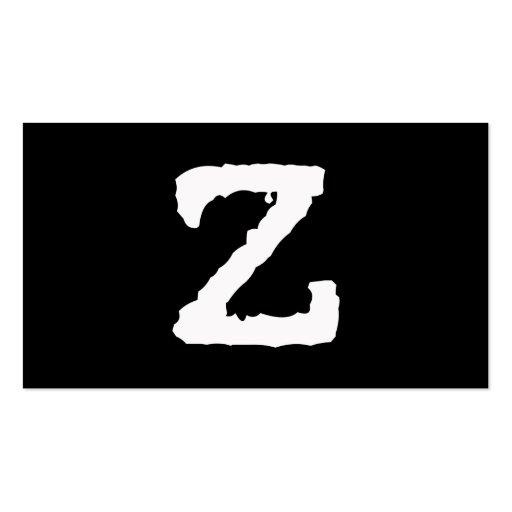 Letter Z Business Card