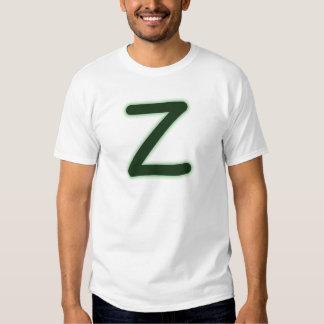 Letter Z forest green glow T-shirts