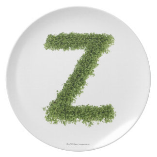 Letter 'Z' in cress on white background, 2 Plate