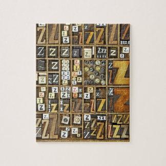 Letter Z Jigsaw Puzzle