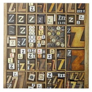 Letter Z Large Square Tile